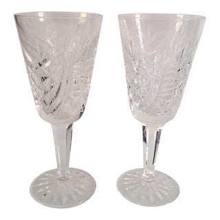 Crystal Waterford Sherry Glasses - A Pair