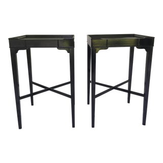 Vintage Black Side Tables - A Pair