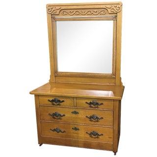Victorian Bedroom Dresser & Mirror