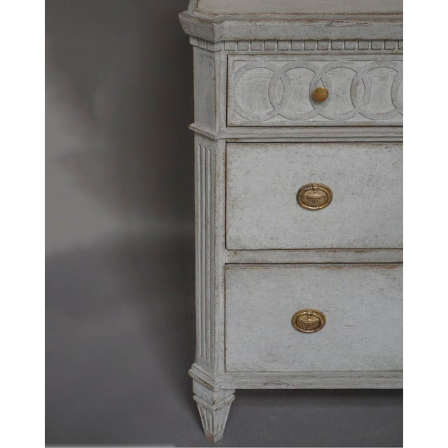 Image of Neoclassical Chest of Drawers with Frieze of Interlocking Rings (#61-02)
