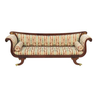 Antique Duncan Phyfe Federal Style Inlaid Sofa
