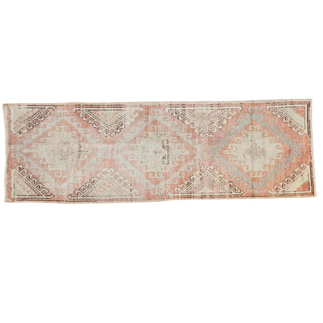 "Distressed Oushak Runner - 2'5"" X 7'5"" - Image 1 of 7"