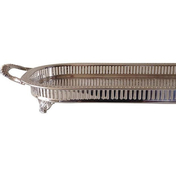 Silver Plate Reticulate Long Server Tray - Image 5 of 7