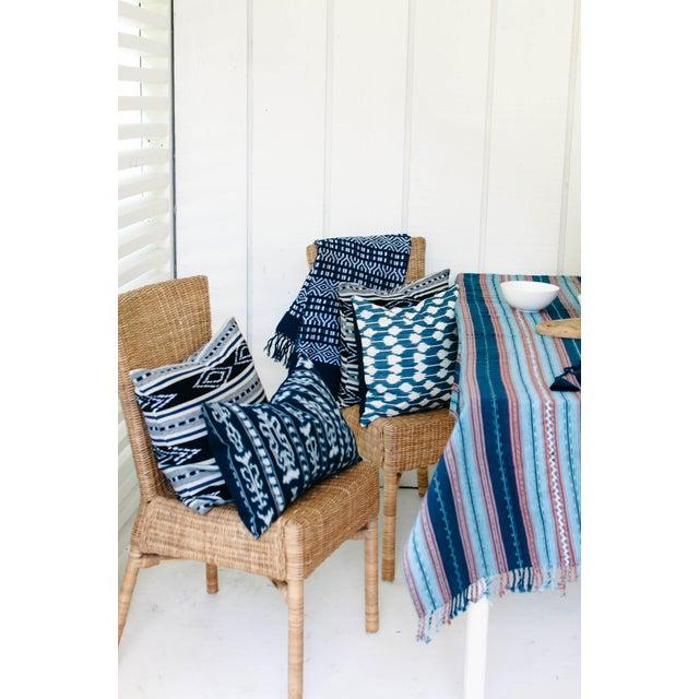 Image of Indigo & Orange Guatemalan Blanket