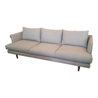 Mid-Century Style Gray Sofa