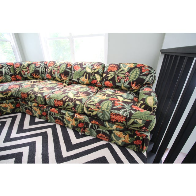 Drexel Heritage Tropical Print Sectional Sofa Chairish