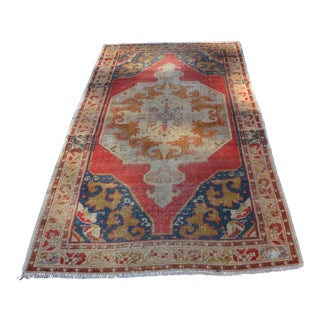 Vintage Handmade Anatolian Rug - 4′3″ × 7′3″