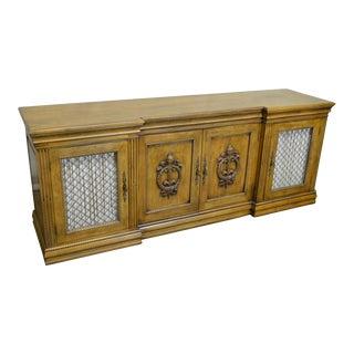 Davis Cabinet Co. Solid Walnut French Provincial Buffet Sideboard