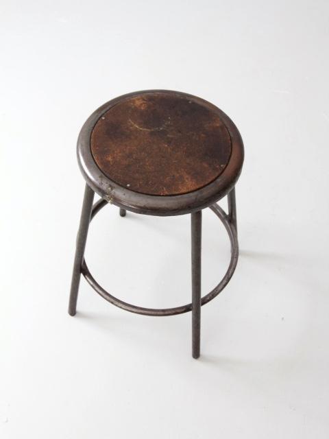 Vintage Industrial Metal Stool Chairish