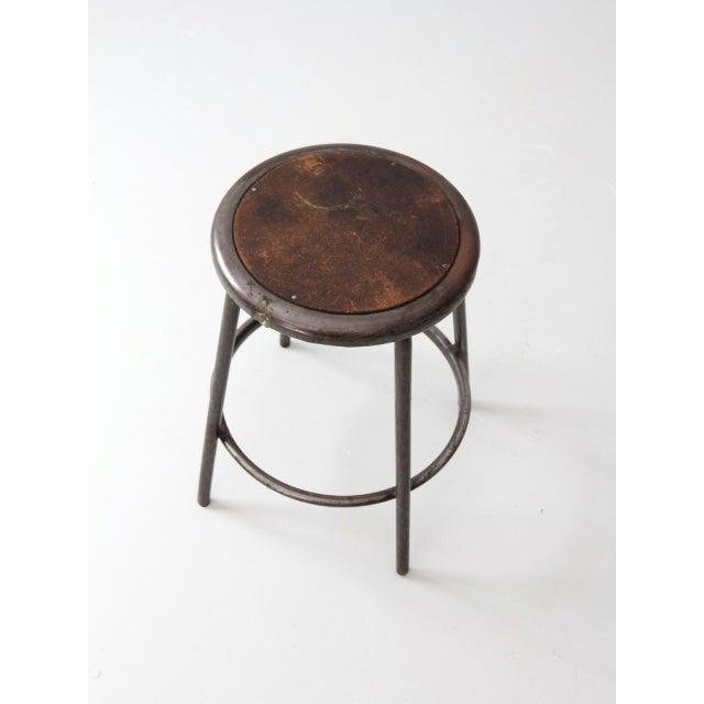 Image of Vintage Industrial Metal Stool