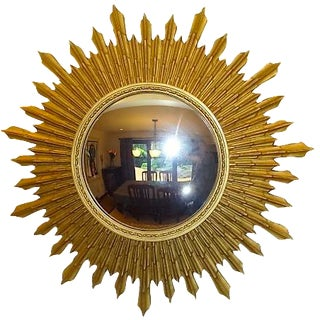 Antique Starburst Design Convex Mirror