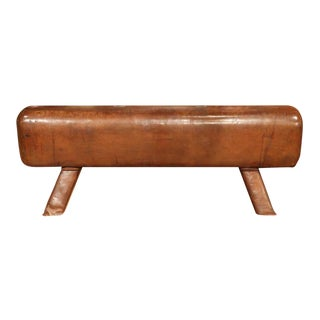 Early 20th Century Leather Pommel Horse Bench