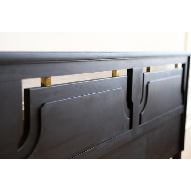 Mid-Century Modern Black King Size Bed - Image 5 of 5