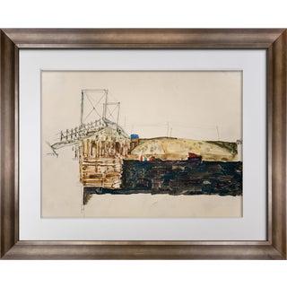 "Egon Schiele ""The Bridge"" Lithograph"
