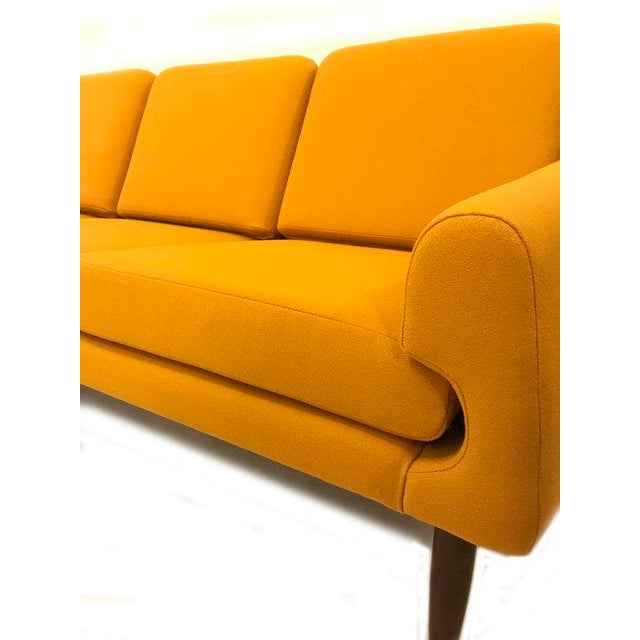 Yellow Mid-Century Modern Couch - Image 2 of 8