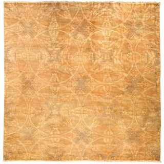 "Over-Dyed Hand Knotted Area Rug - 6'1"" X 6'2"""