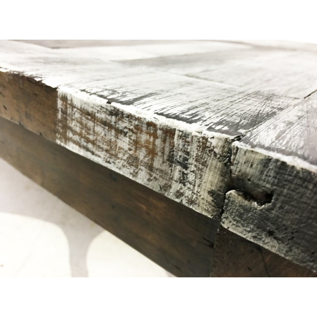 Vintage Mexican Hand Painted Pine Coffee Table - Image 7 of 7