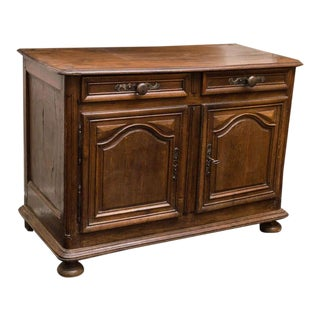 Provincial French Walnut Two-Door Buffet, circa 1780