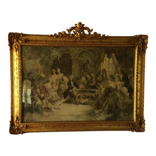 "19th Century Lithograph ""The Recital"" V. De Paredes"