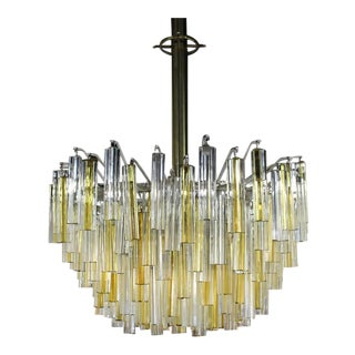 Gorgeous Two-Tone Gold and Clear Camer Light Fixture