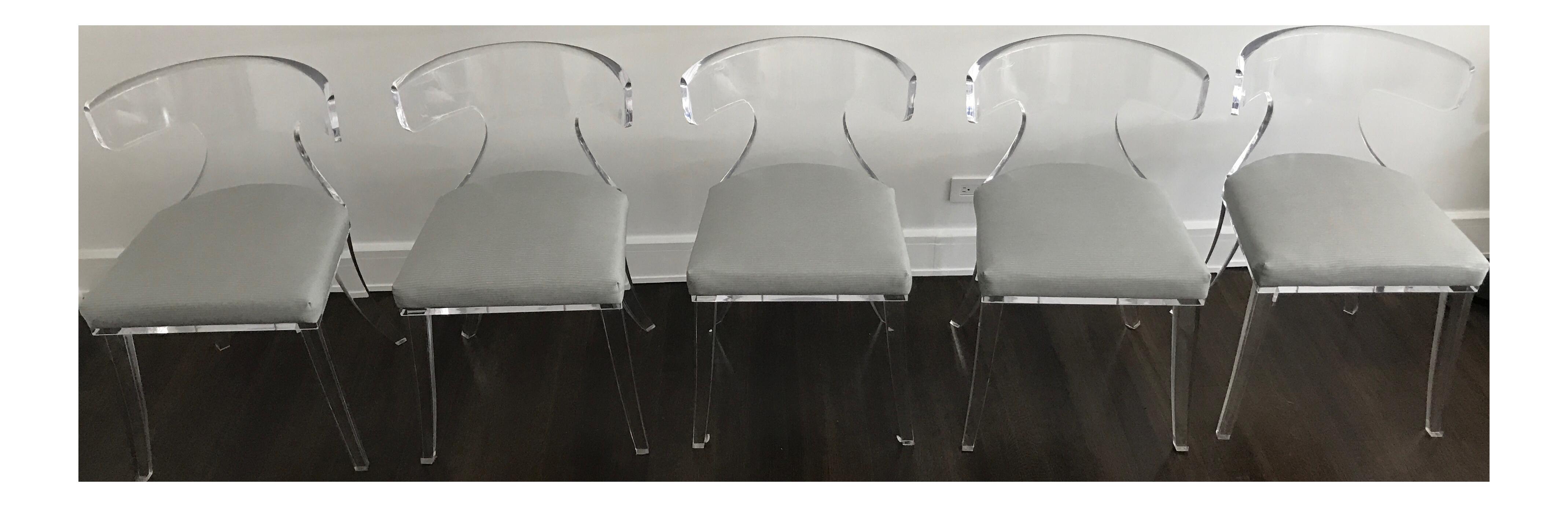 h studio verona lucite chairs set of 5