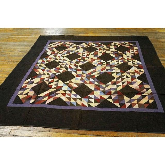 Americana Geometric Quilt - Image 3 of 4