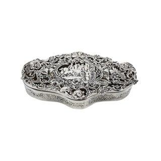 William Comyns London Sterling SIlver Pierced Wedding Pot Pourri Box