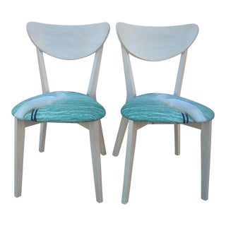 Contemporary Egret Chairs - A Pair