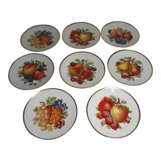 Porcelain Fruit Dessert Plates - Set of 8