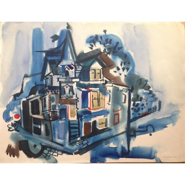 1965 Gouache Painting Victorian House - Image 2 of 6