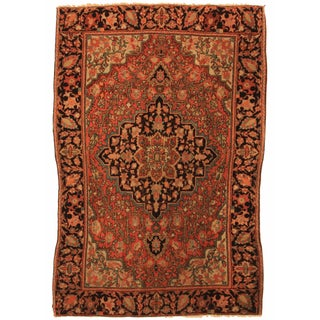 RugsinDallas Hand Knotted Wool Persian Sarouk Rug - 3' X 5'