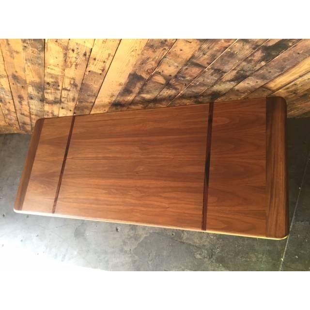 Mid-Century Danish Walnut Rosewood Coffee Table - Image 5 of 6