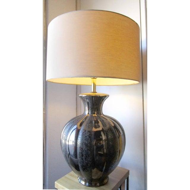 Glamorous Ceramic Metallic Table Lamp - Pair - Image 2 of 6