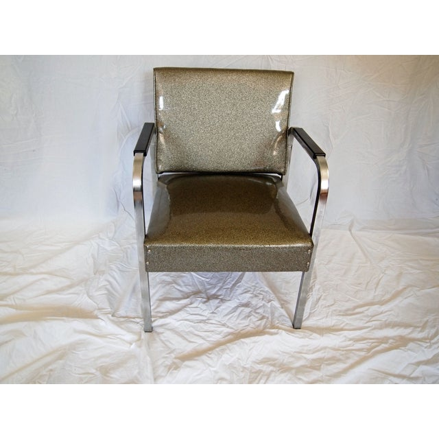 Image of Chrome Chairs With Vinyl Seats - Pair