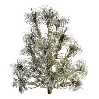 Rare Aluminum Pom Pom Christmas Tree Wall Door Decor
