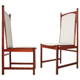 Circa 1960 Celina Moveis Brazilian Mahogany Side Chairs - A Pair
