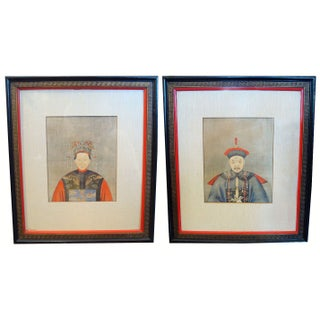 Mid-century Framed Chinese Portraits - A Pair