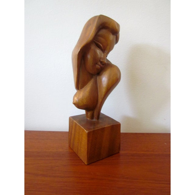 Alii Tiki Modernist Abstract Carved Wood Sculpture - Image 2 of 11