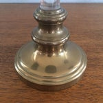 Image of Brass and Lucite Candleholders - Set of 3