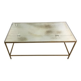 Goldleaf Antique Glass Coffee Table