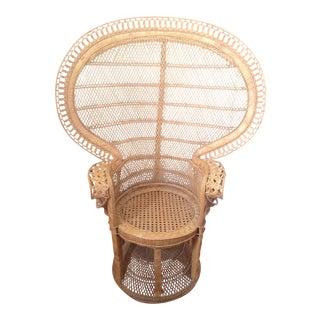 Vintage Wicker Rattan Peacock Chair