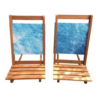Mid-Century Children Teak Chairs - A Pair