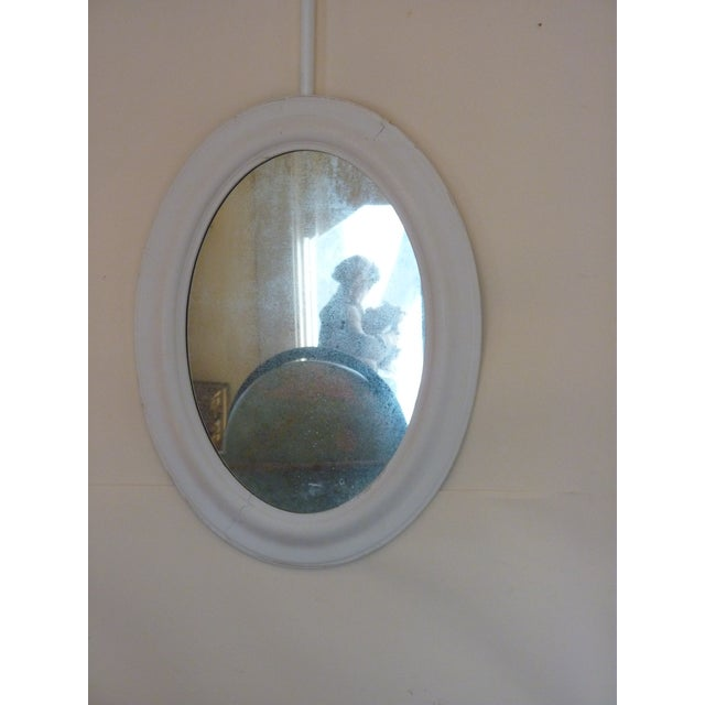 Oval Whitewashed Mirror - Image 2 of 6