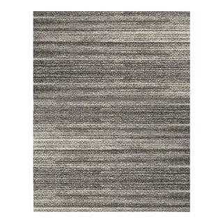 Dark Gray Contemporary Hand Woven Rug - 7'9 X 9'9