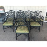 Image of McGuire Chinese Chippendale Chairs - Set of 8