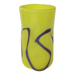 Memphis-Style Handblown Art Glass Vase