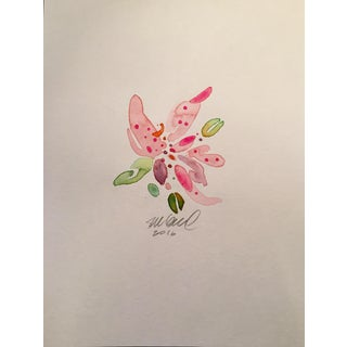 Pink Stargazer Lily Watercolor