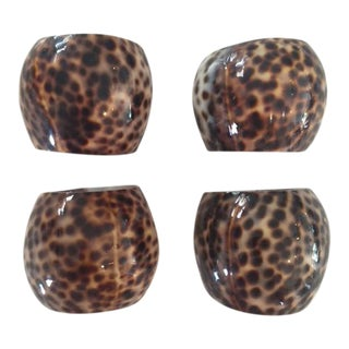 Cowrie Shell Napkin Rings - Set of 4