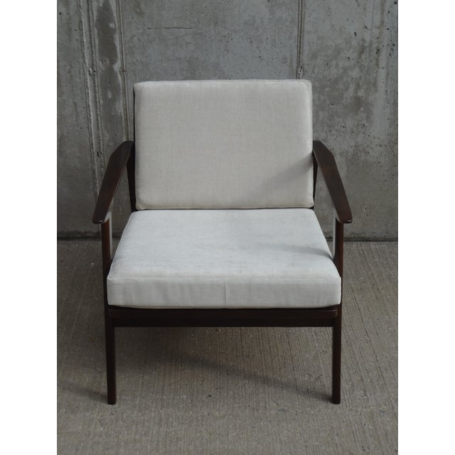 Restored Danish Modern Style Armchair - Image 4 of 11