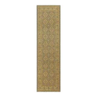 "Kafkaz Peshawar Doretha Gray Gold Wool Rug - 2'9"" x 9'5"""